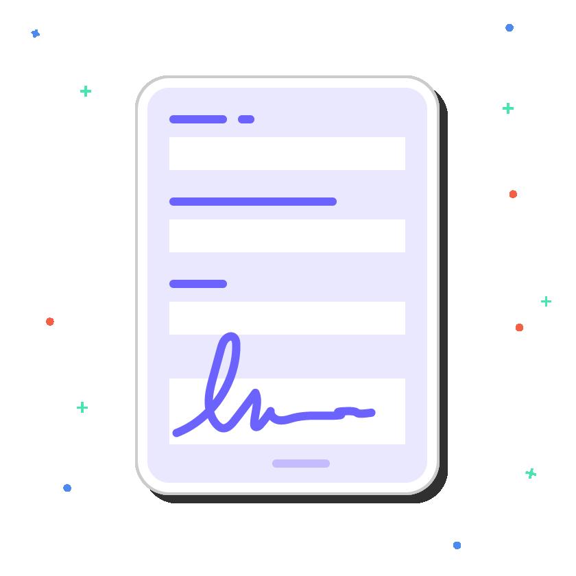 digital form on ipad